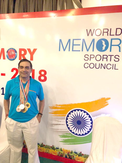 Resident wins 11 medals in India memory contest