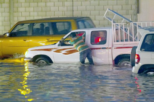 VIDEOS & PHOTOS: Rain causes floods chaos on Bahrain's roads