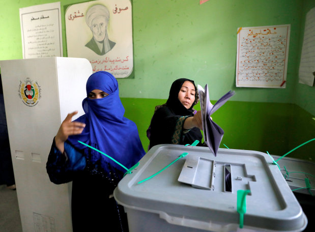 Hundreds of Afghan polling centres open for second day of voting