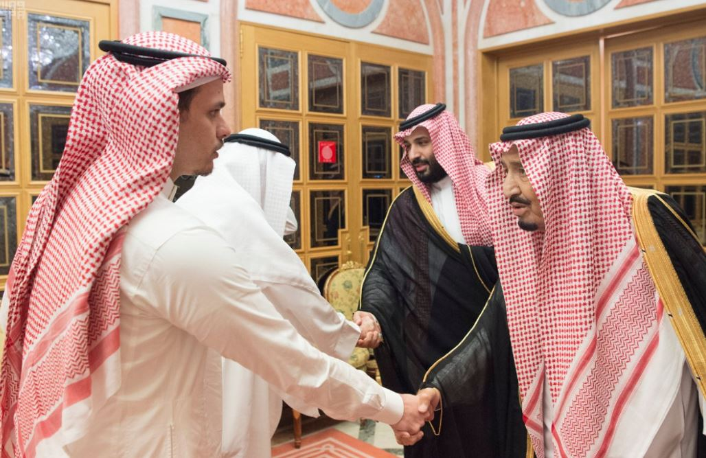 Saudi King Salman and Crown Prince Mohammed bin Salman meet slain journalist's family
