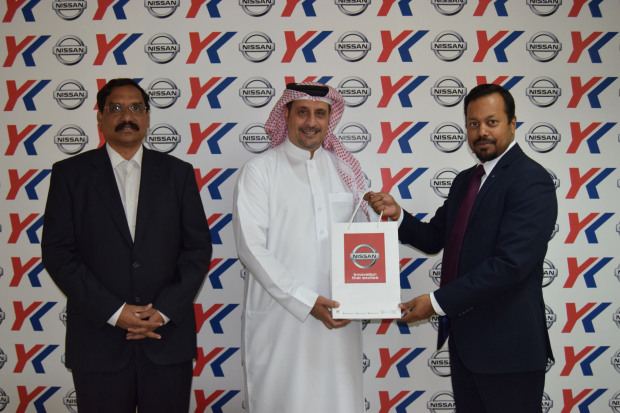 <p><em>Y K Almoayyed senior fleet manager P Mohanty, right, presents Mr Al Arab with his gift as Y K Almoayyed group corporate purchase and logistic senior manager Srinivasu K looks on.</em></p><p>Hassan Al Arab and Ahmed Salman Matar were announced by Y K Almoayyed and Sons as winners of the Nissan Bahrain 'Test Drive and Win' promotion.</p><div>The campaign, which ran from August 19 until September 30, offered customers the chance to win a new iPhone X (64GB) by test-driving any Nissan model at the Sitra and Arad showrooms.</div><div><br></div><div>The winners were picked by an Industry and Commerce Ministry representative at raffle draws held at the showrooms.</div>