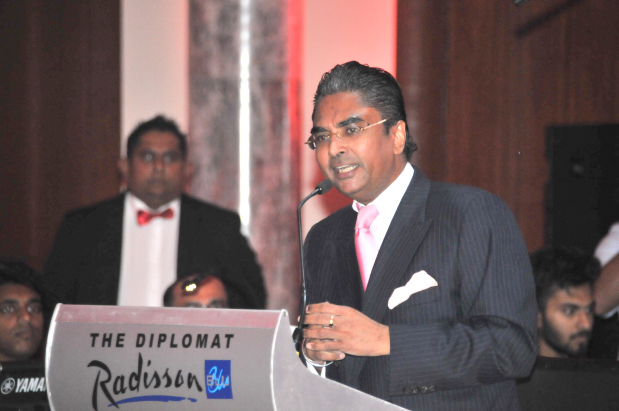 <p>The Sri Lanka Club marked its 40th anniversary last night with a celebration at the Diplomat Radisson Blu Hotel and Spa. It was attended by Sri Lankan Ambassador Saj Mendis, community members and diplomats. Popular band Misty flew in from Sri Lanka to headline the event, which also featured dance performances from community members, along with various Western and Baila songs. Above, Mr Mendis addressing the gathering.</p>