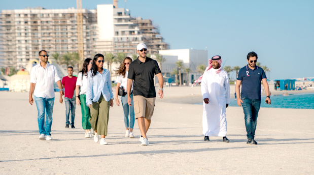 Shaikh Isa bin Salman attends an introduction to Beach Lifesaving and Sports
