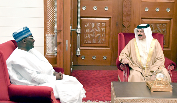 King Hamad receives written message from Republic of Ghana's President