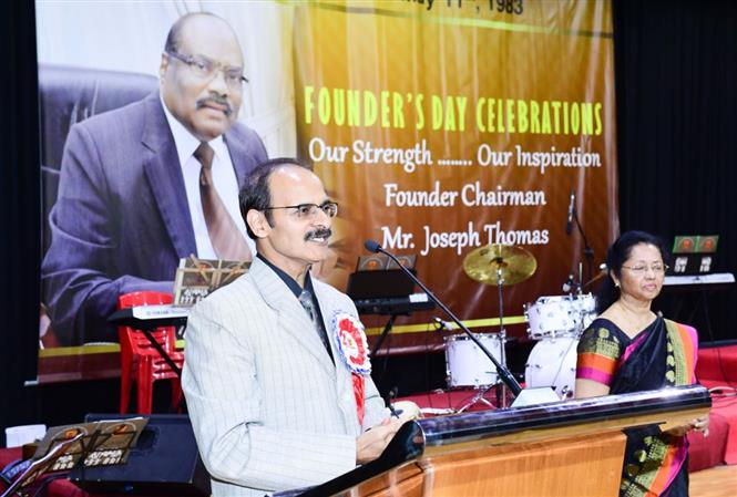 <p>The Guest of Honour was Mr Arun Kumar Sharma, Principal of Millennium School, Kingdom of Bahrain.</p>