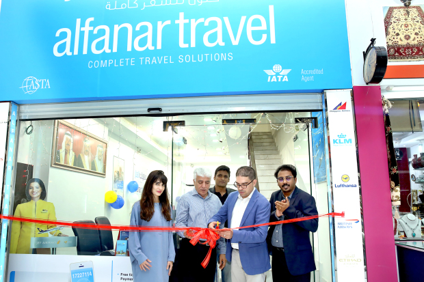<p>Al Fanar Travel opened its new shop in ABC Mall, Juffair. It was inaugurated by chief executive Kareem Jawad, in the presence of general manager Deepak Janardanan and guests. The travel agency is venturing into new tourism projects, wellness tours, women-only tours and educational trips for the students of universities and schools of Bahrain. Above, Mr Jawad inaugurating the shop with Mr Janardanan, right, and guests.</p>