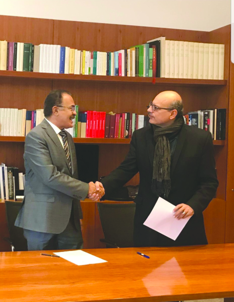 <p>King Hamad Global Centre for Peaceful Co-existence board of trustees chairman Dr Shaikh Khalid bin Khalifa Al Khalifa has signed a memorandum of understanding with the Sapienza University of Rome,to boost co-operation to foster interfaith dialogue and coexistence.</p>
