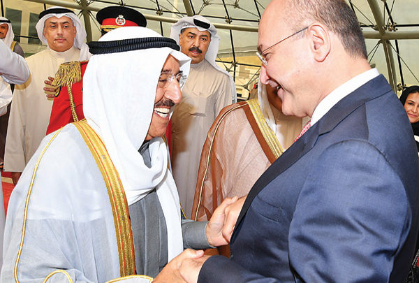'Iraq keen to overcome painful past with Kuwait' says Iraqi president