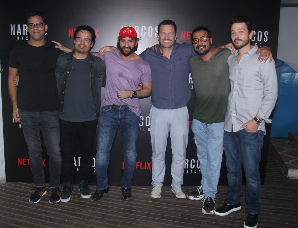 IN PICTURES: Netflix's 'Sacred Games' team meets stars of 'Narcos: Mexico'