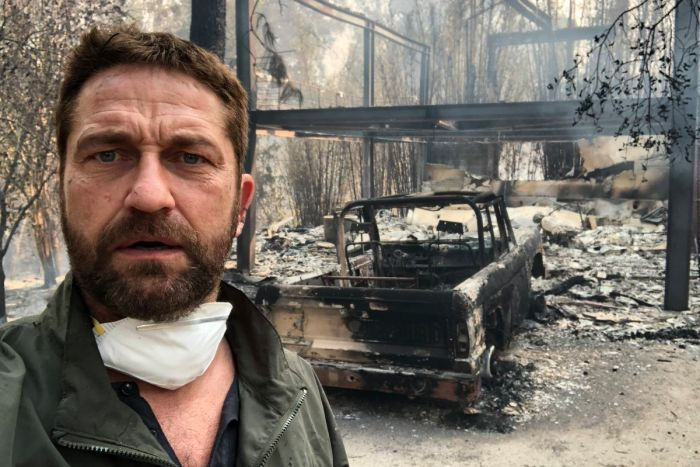 Gerard Butler shares photo of Malibu home destroyed in Woolsey fire