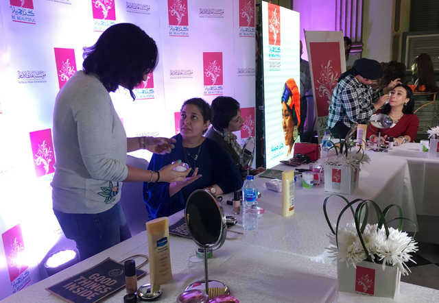 Women cancer patients learn makeup tips in new Egypt workshop