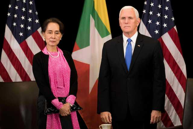 Pence tells Suu Kyi persecution of Rohingya inexcusable