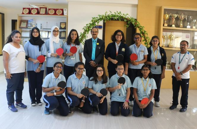 NMS clinch table tennis girls tournament