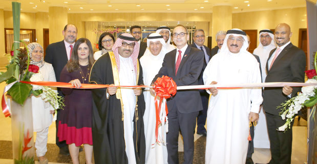 British Ambassador Simon Martin inaugurated the annual two-day Study UK Fair 2018 at the Crowne Plaza Bahrain yesterday. Organised by the British Council, Bahrain, the event offers undergraduate and graduate programmes for students, and featured representatives from 25 UK universities, colleges and boarding schools. Above, Mr Martin opening the fair.