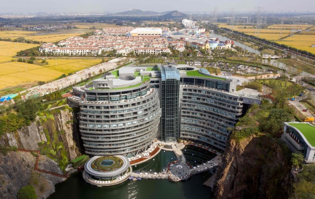 OMG: This place is the pits: China opens luxury hotel in quarry