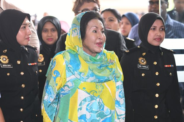Malaysia charges wife of former PM Najib with two counts of graft