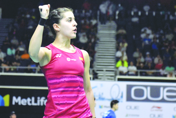 Marin outplays Li to reach quarters