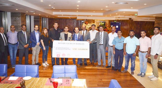 Funds raised for Kerala flood victims