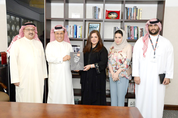 "<p>The National Bank of Bahrain (NBB) presented a BD10,000 grant to Al Mabarrah Al Khalifia Foundation (MKF) in recognition of its efforts to support education and empower youth. The cheque was handed over during a meeting between MKF board of trustees secretary Shaikha Hala bint Mohammed Al Khalifa and NBB treasury, capital markets and wealth management chief executive Hussain Al Hussaini. ""This grant reflects the special ties between public and private sector entities and NGOs in Bahrain and we hope this relationship will be further developed in the future to achieve our mutual goals,"" said Shaikha Hala. The presentation was also attended by MKF Youth Programmes head Fatima Al Jar, NBB board secretary Nasser Nasser and compensations and benefits head Shafi Al Mannai. Above, Shaikha Hala, centre, receiving the grant from Mr Al Hussaini, second from left, with Mr Nasser, left, Ms Al Jar, second from right, and Mr Al Mannai, right.</p>"