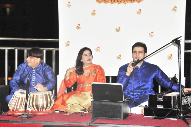 <p>A special Diwali celebration was hosted by Wyndham Garden Manama at its Jashan restaurant. Guests were treated to authentic Indian cuisine while entertainment was provided by Radio Mirchi. The event also featured games and competitions. Above, singers perform at the event.</p>