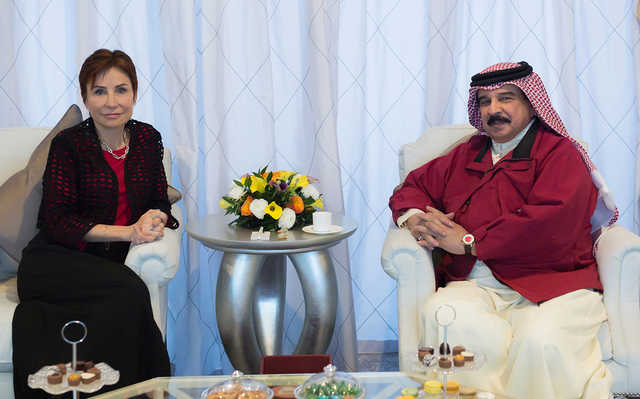 <div>His Majesty King Hamad yesterday received at Sakhir Airbase French Ambassador Cécile Longé. He thanked France for taking part in Bahrain International Airshow 2018 which, he said, reflects deep-rooted and outstanding relations between the two countries. The King expressed respect for French President Emmanuel Macron for his keenness to bolster relations of friendship with Bahrain, praising France's active role and contribution, alongside the international community, to promote regional and international peace and stability.</div>