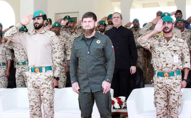 Chechen President welcomed by Shaikh Nasser