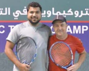 Abdulredha pair lift super doubles title