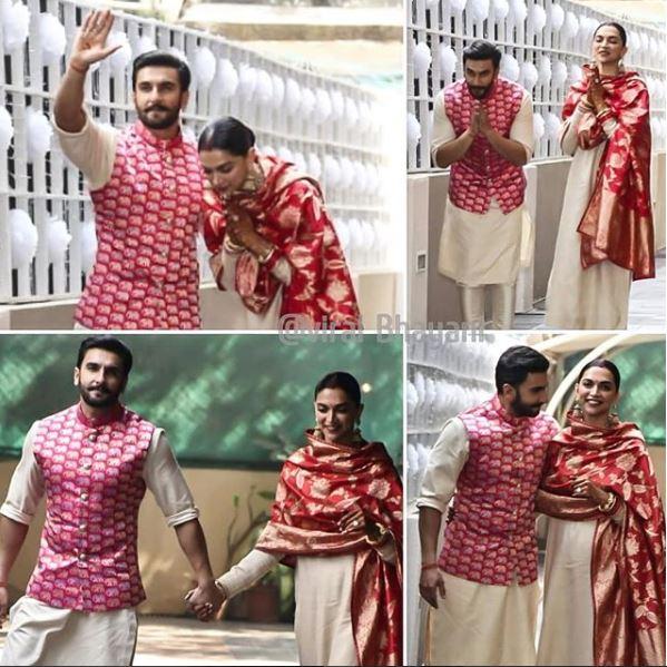 Ranveer and Deepika back after dreamy destination wedding!