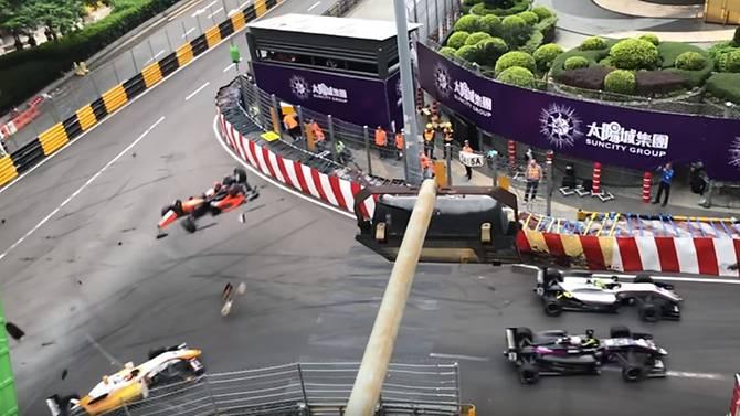 VIDEO: Six injured in Macau Grand Prix horror crash