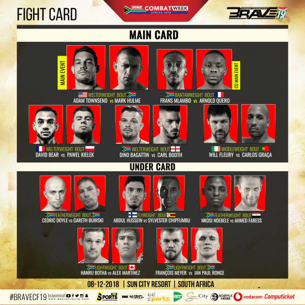 Brave 19 fight card released