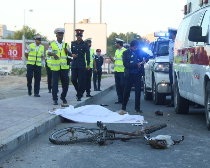 Cyclist dies in accident on Salmaniya Avenue