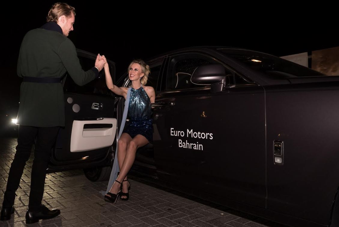 Hollywood couple experience ultimate style in Rolls Royce Ghost on Bahrain trip
