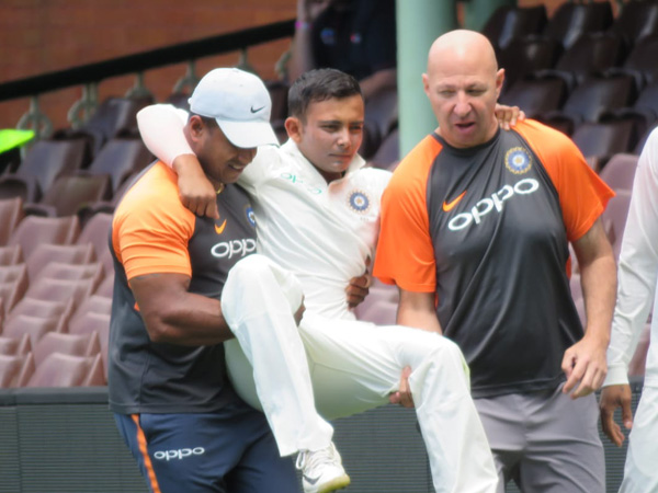 India's Shaw out of first test with ankle injury