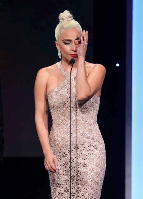 Lady Gaga gets emotional while honouring Bradley Cooper