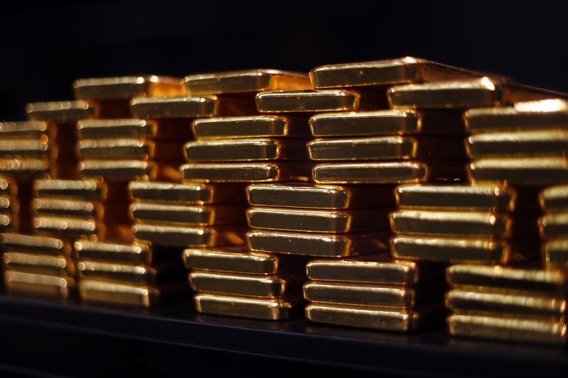 Gold pulls back from 5-week high as dollar edges higher