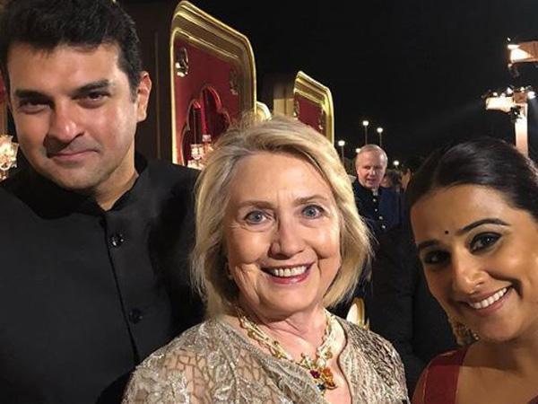 Check out Vidya Balan's 'precious pic' with Hillary Clinton