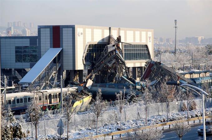 Turkish train crash in Ankara kills four, injures 43 - governor