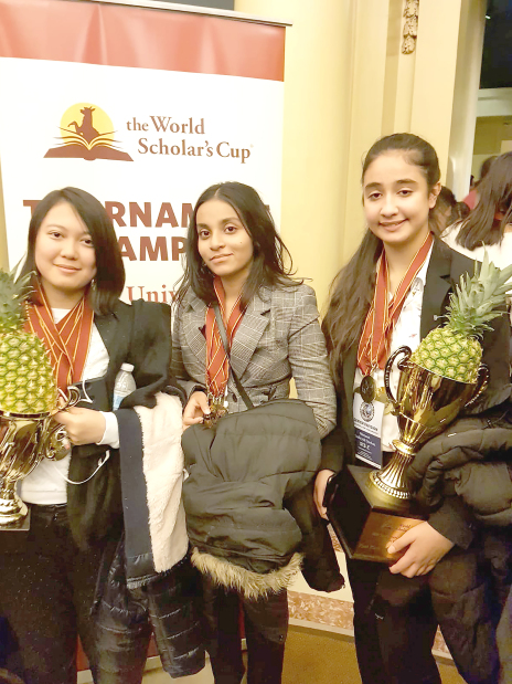 US contest honour for three Sacred Heart students
