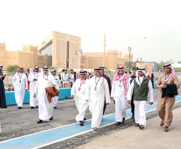Crown Prince attends Formula E race in Riyadh