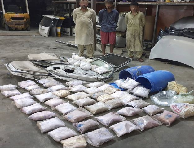 60.5 kilos of heroin seized; Three Asian suspects arrested