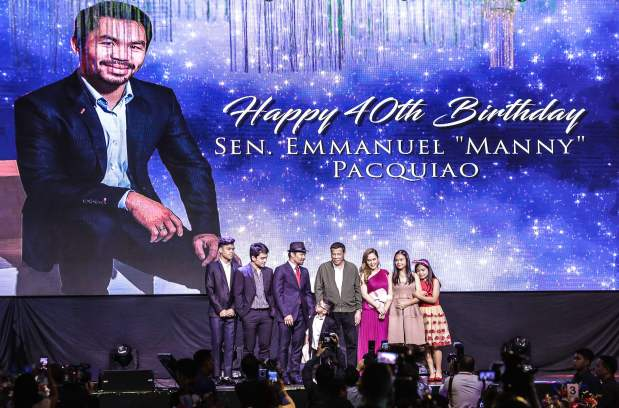 'Stronger, faster' Pacquiao turns 40 with lavish birthday bash
