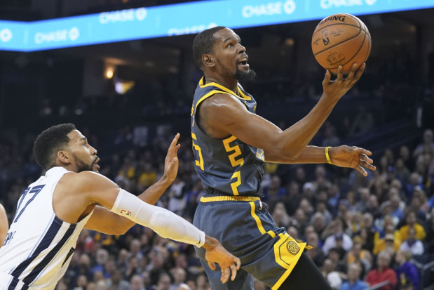 NBA: Durant, Curry lead Warriors over Grizzlies