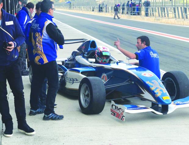 Hussain tests Valencia track