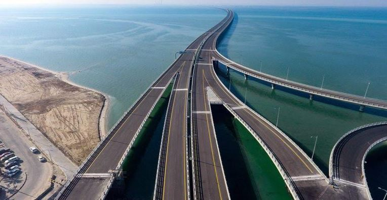 Land section of Sheikh Jaber Causeway opened