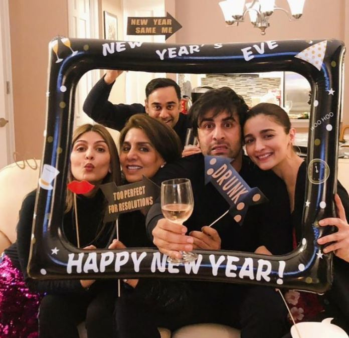 Photos: Alia spends New Year with Ranbir and Kapoor family