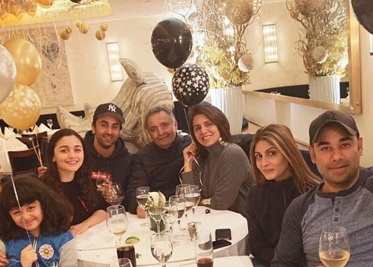 Bollywood: Photos: Alia spends New Year with Ranbir and Kapoor family