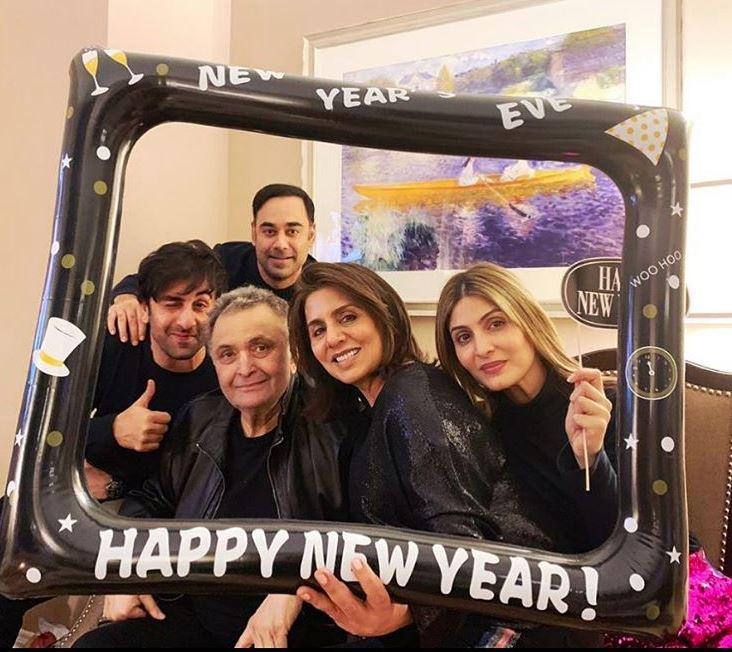 Bollywood: Photos: Alia spends New Year with Ranbir and Kapoor family