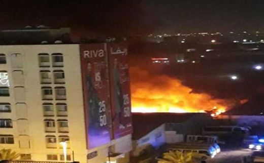 VIDEO: Massive fire guts furniture warehouse in Sharjah