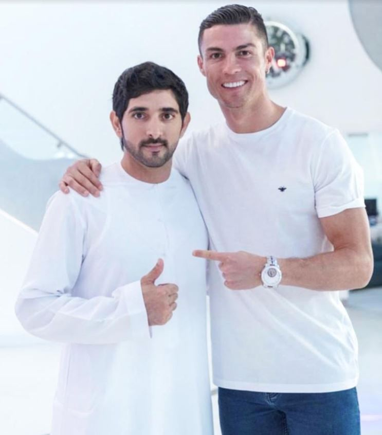 Dubai Crown Prince with Cristiano Ronaldo