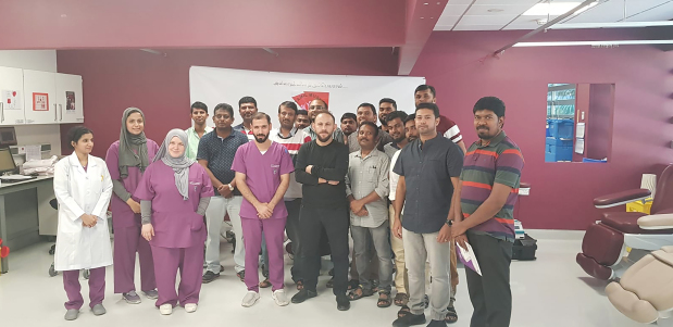 <p><em>Society members and hospital staff at the event</em></p>